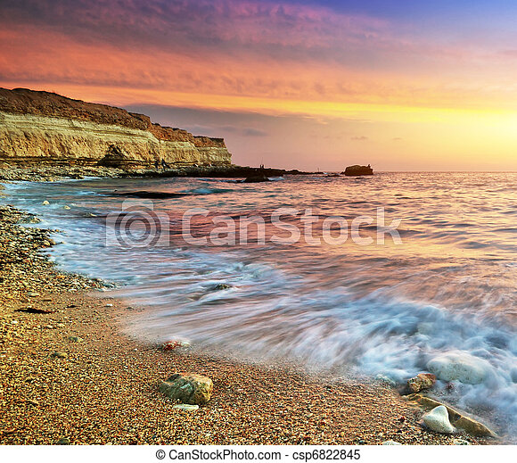 Beautiful seascape - csp6822845