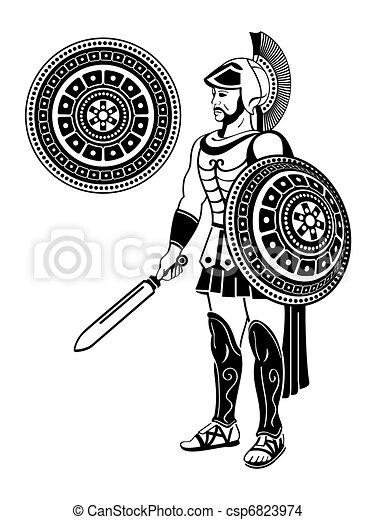 Roman warrior - csp6823974