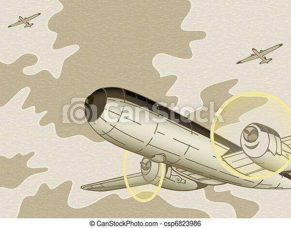 Retro aviation - csp6823986