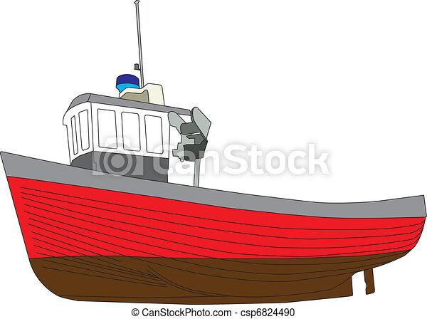 Fishing Boats Drawings Fishing Boat 01 Copy Single
