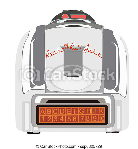 Retro Table Juke Box - csp6825729