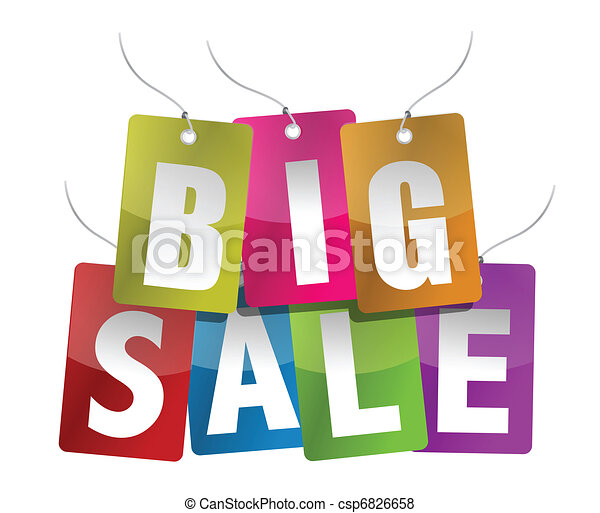 Big Sale Sign  - csp6826658