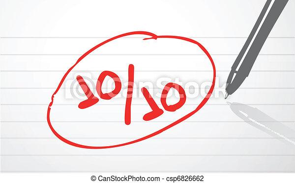 perfect score concept illustration  - csp6826662