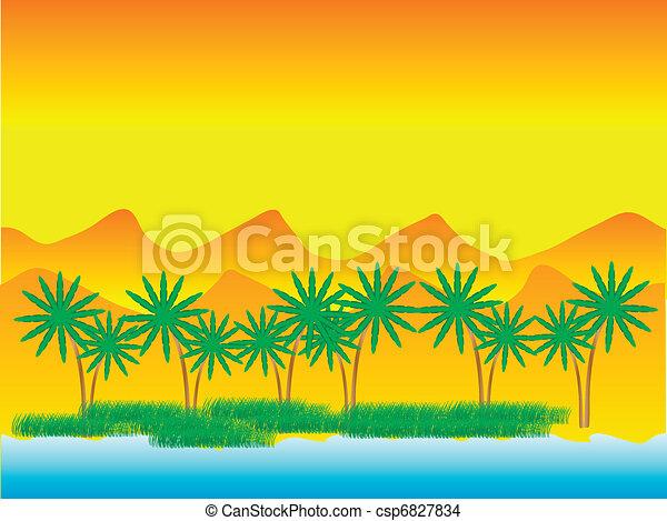 Oasis in the desert - csp6827834
