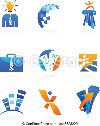 collection of business and consulting icons - csp6828229