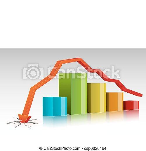 Crashed Bar Graph - csp6828464
