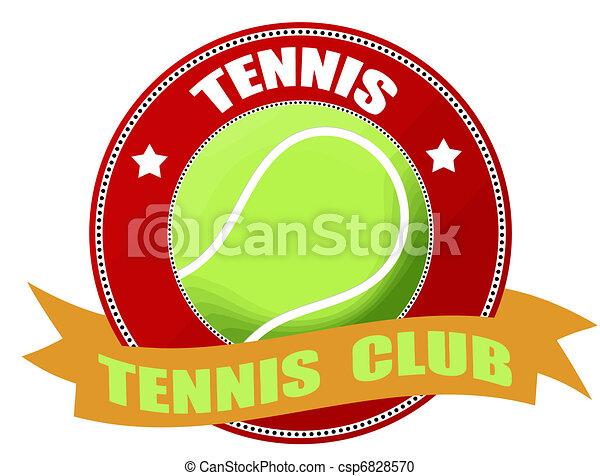 tennis label - csp6828570