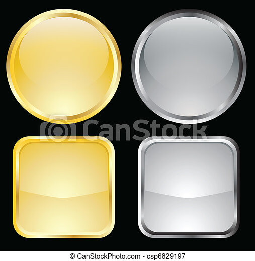 gold and metallic buttons - csp6829197