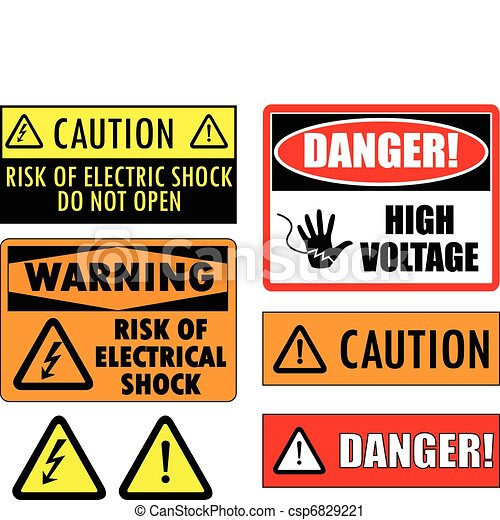 Safety electrical signs - csp6829221