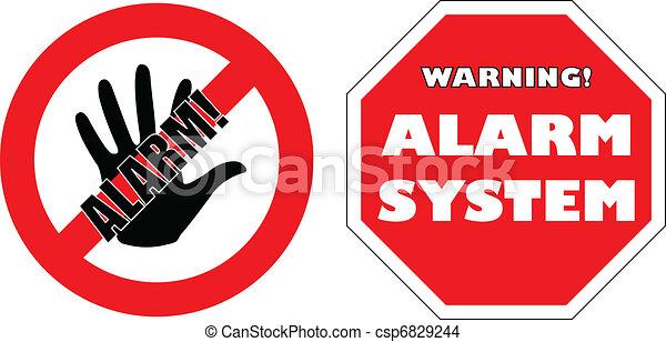 """alarm system"" signs  - csp6829244"