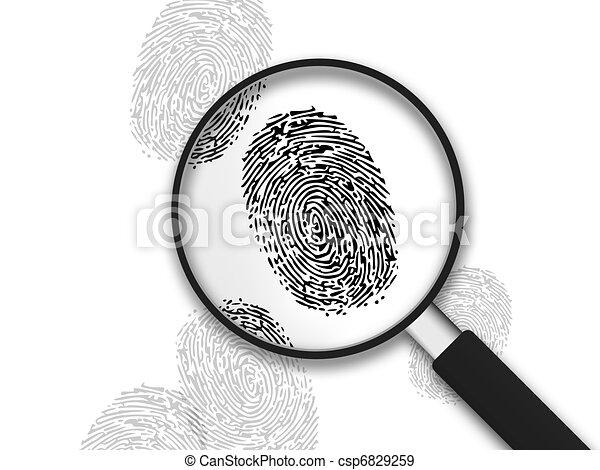 Magnifying Glass - Finger Prints - csp6829259