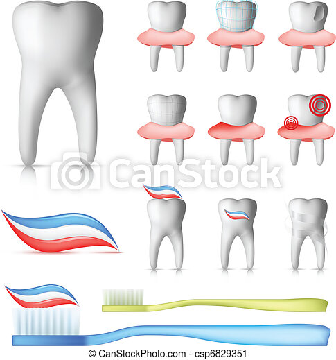 Dental Set - csp6829351