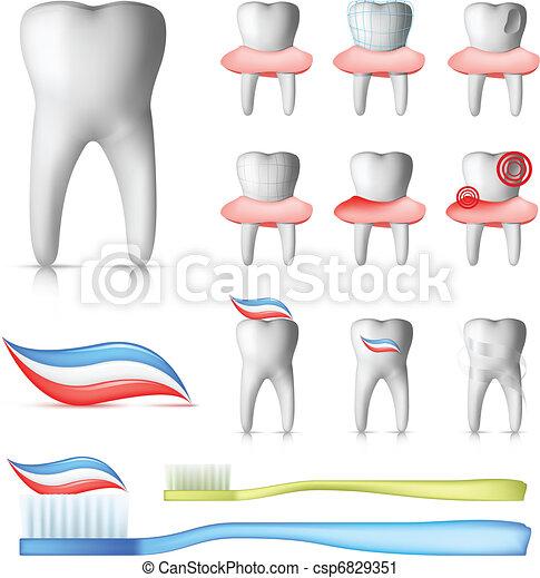 Dental Set - csp6829351