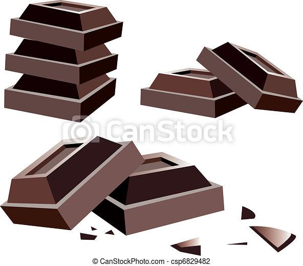 vector chocolate bars - csp6829482
