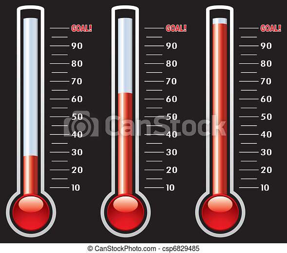 vector thermometers at different levels  - csp6829485