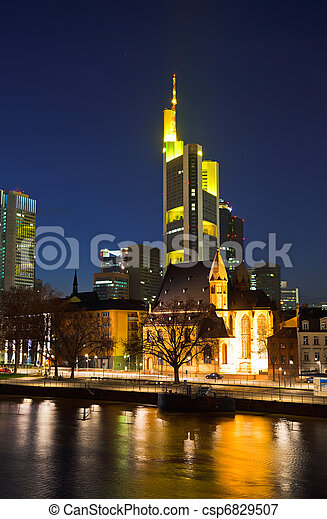 Frankfurt am Main at night - csp6829507