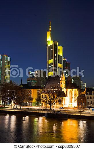 Frankfurt am Main at night - csp6829507