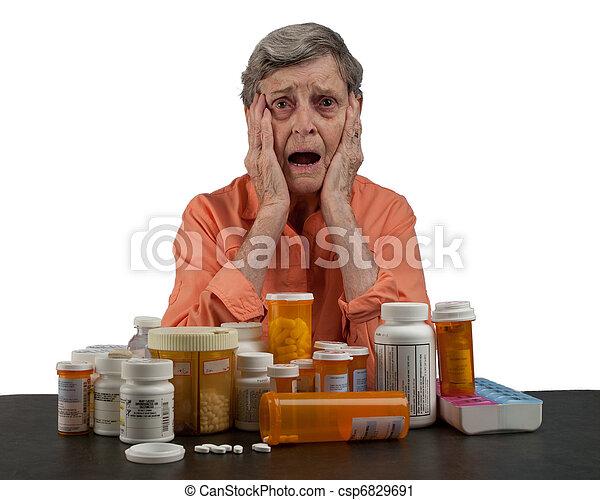 Senior Woman with Medications - csp6829691