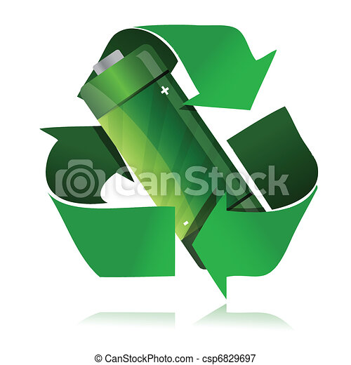 battery recycling symbol - csp6829697