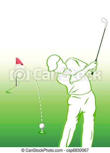 Golfer - csp6830067