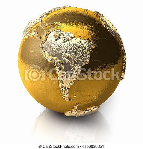 Gold Globe - South America - csp6830851