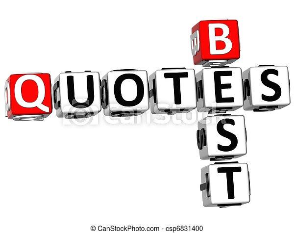 3D Best Quotes Crossword - csp6831400