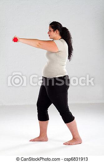 Plus Size Female exercise - csp6831913