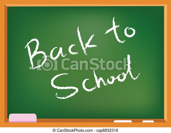 School chalkboard - csp6832316