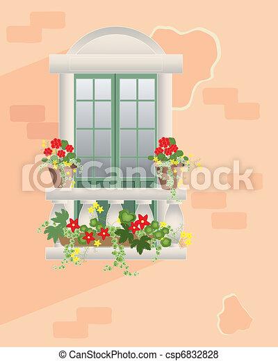 flower balcony - csp6832828