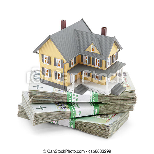 House on stack of polish zlotys - csp6833299