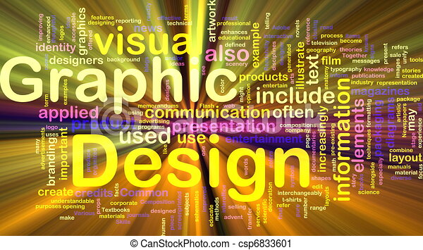Graphic design background concept glowing - csp6833601