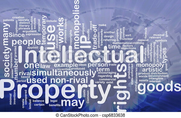 Intellectual property background concept - csp6833638