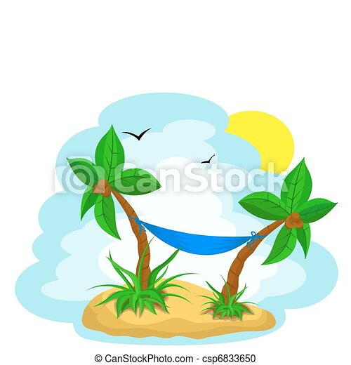palm trees with coconut - csp6833650