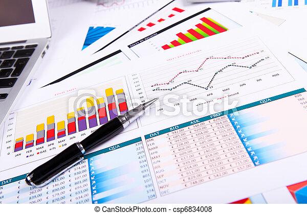 圖表, 桌子, 圖, 事務 - csp6834008