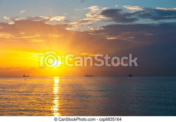 Sunrise over Atlantic ocean - csp6835164
