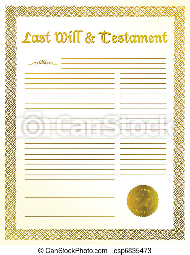 last will and testament - csp6835473