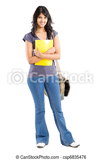 portrait of college student - csp6835476