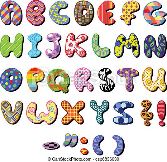 Patterned alphabet - csp6836030