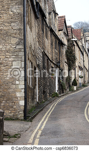 A row of terraced houses - csp6836073