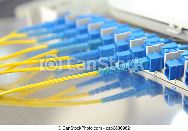 shot of network cables and servers in a technology data center - csp6836982