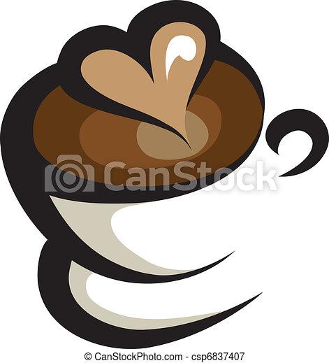 coffee icon  - csp6837407