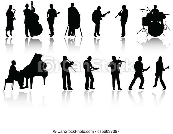 dance jazz clipart. jazz clipart. jazz band on white background ...