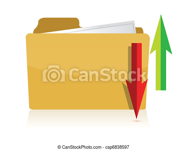 upload download Yellow computer  - csp6838597