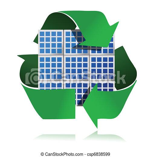 renewable energy solar panels - csp6838599