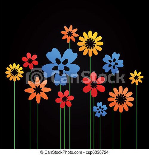 Flower a background8 - csp6838724