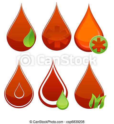 medic blood drop symbols - csp6839208