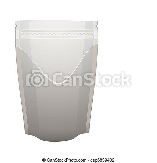 Silver foil food pouch - csp6839402