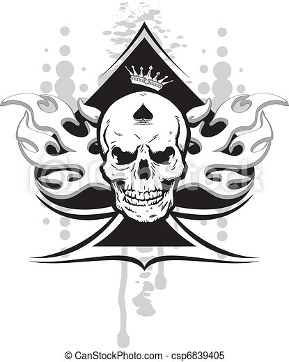 ace of spades skull - csp6839405