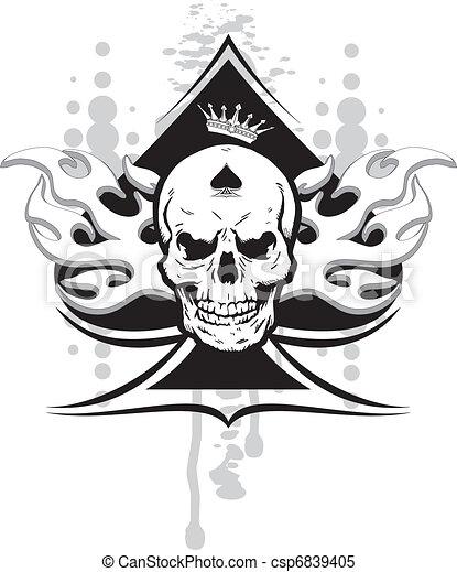 ace of spades skull - csp6839405