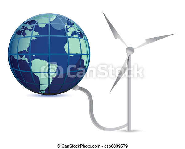 Wind Energy illustration concept - csp6839579